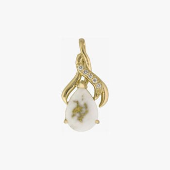 Gold Quartz Pendant