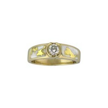 Gold Quartz Diamond Ring