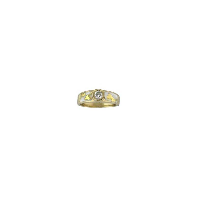 Alaskan Jewelry Gold Quartz Diamond Ring