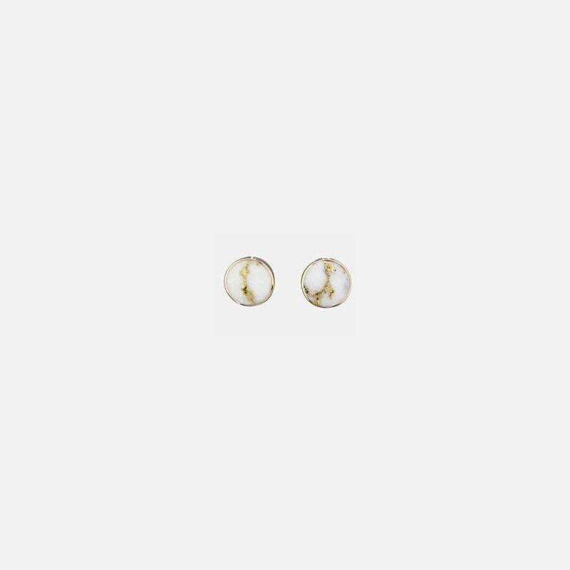 Alaskan Jewelry Gold Quartz Cuffinks