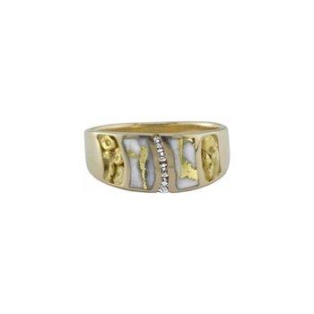 Gold Quartz Ring