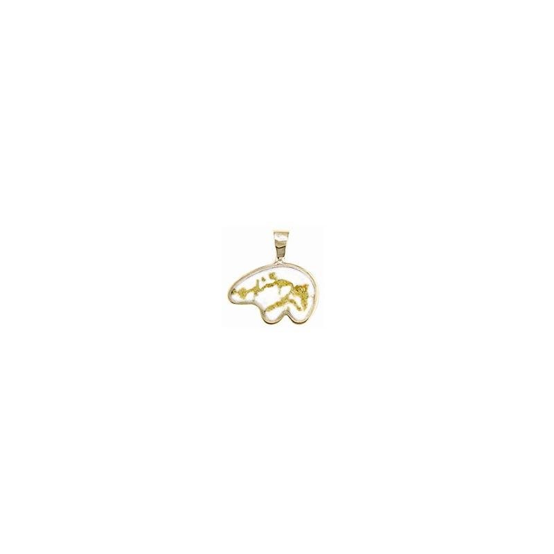 Alaskan Jewelry Gold Quartz Polar Bear