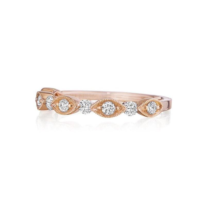 Custom Designs Rose Gold Diamond Band