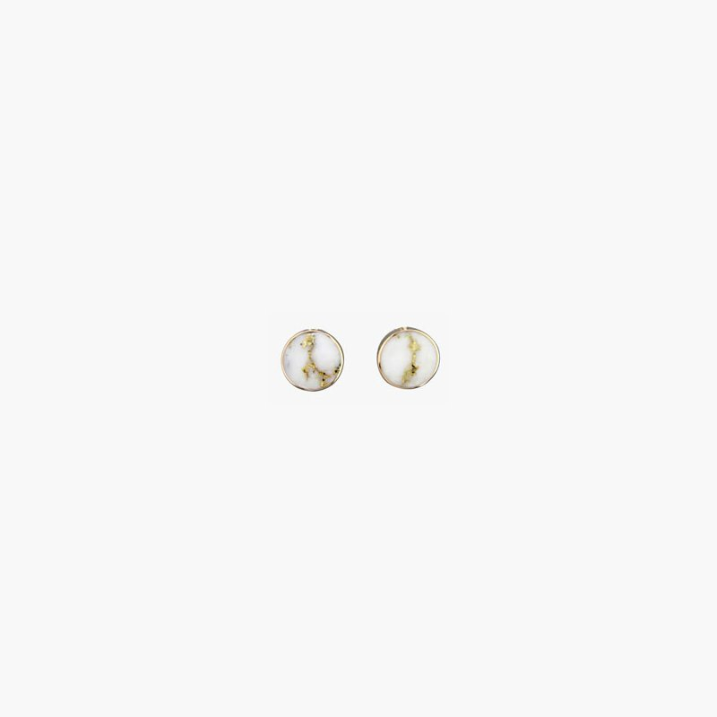 Alaskan Jewelry Gold Quartz Earrings - Small