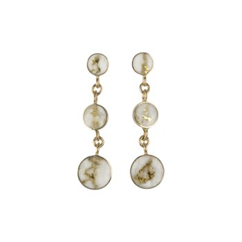 Gold Quartz Earrings