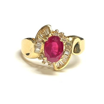 Oval Ruby and Diamond Ring