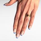 Decor Ruby & Diamond Flexible Ring