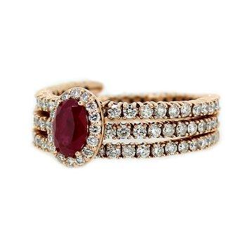Ruby & Diamond Flexible Ring