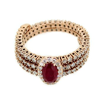 Ruby & Diamond Flexible Ring