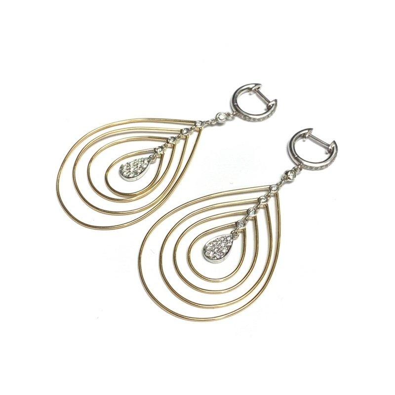Decor Diamond Teardrop Earrings