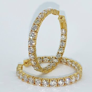 11.01ctw Diamond Hoop Earrings