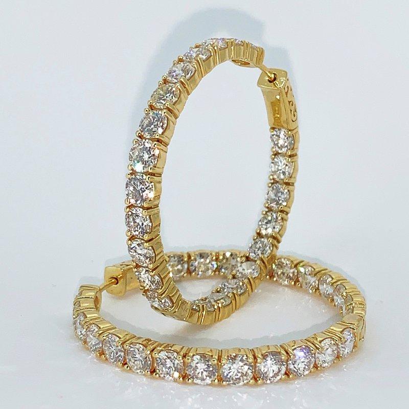 Decor 11.01ctw Diamond Hoop Earrings