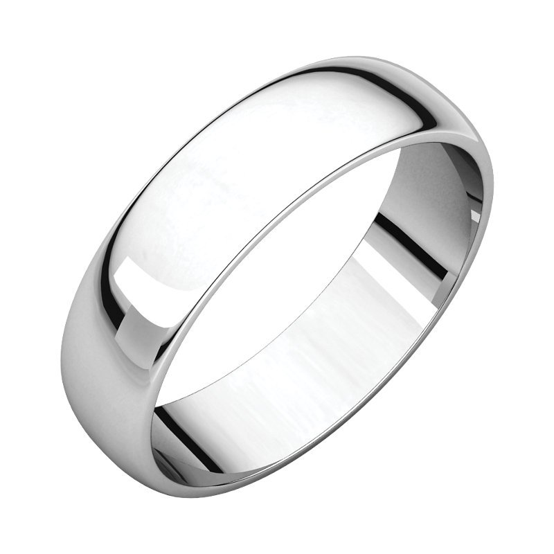 Decor Gent's 14k White Gold Wedding Band