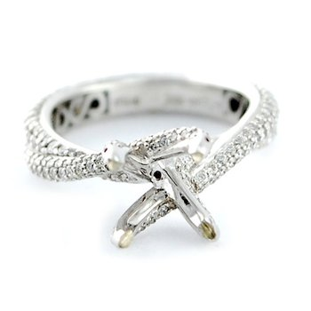 Micro Pave Eternity Bypass Diamond Ring Mounting