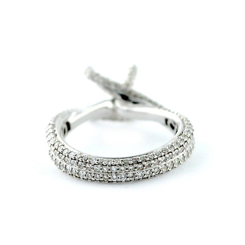 Decor Micro Pave Eternity Bypass Diamond Ring Mounting