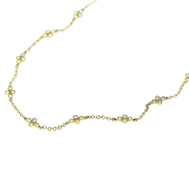 Decor Diamond Station Necklace