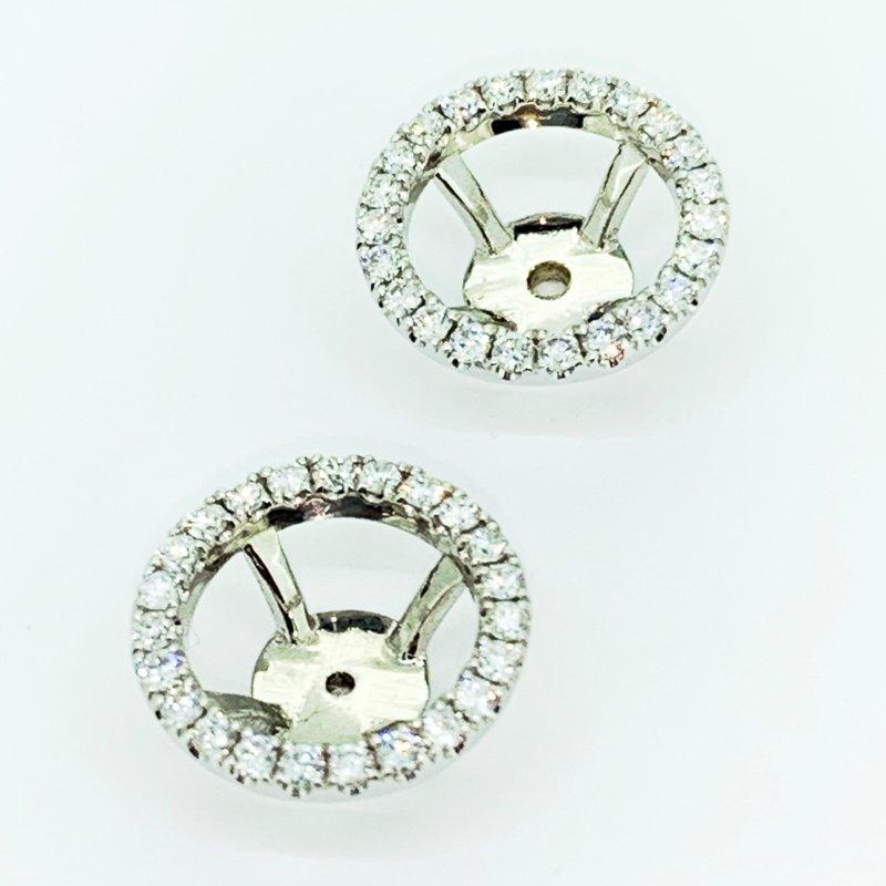 Decor Diamond Halo Earring Jackets