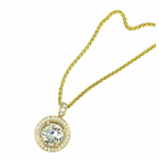 Decor 5.22ctw Pave Diamond Circle Pendant
