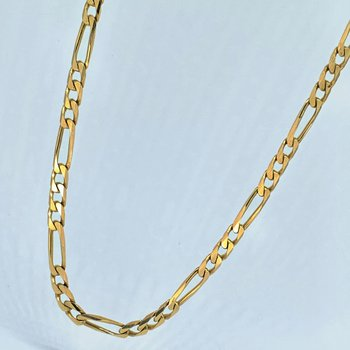 """19"""" Figaro Gold Link Chain Necklace"""