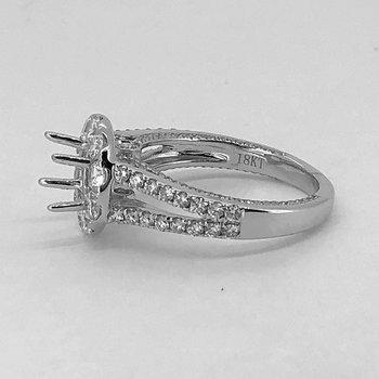 Round Halo Diamond Ring Mounting