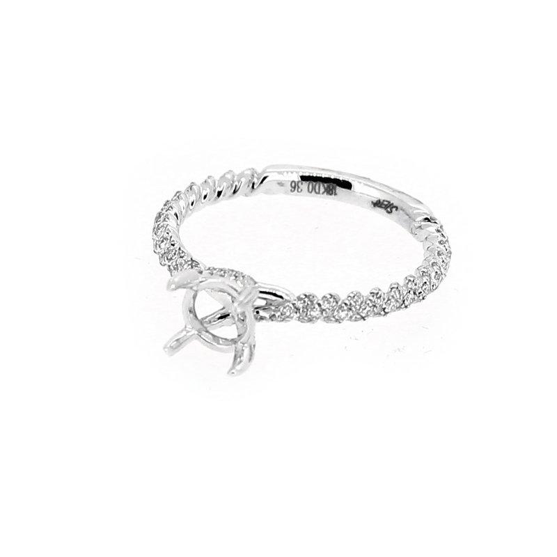 Decor Thin Diamond Twist Ring Mounting