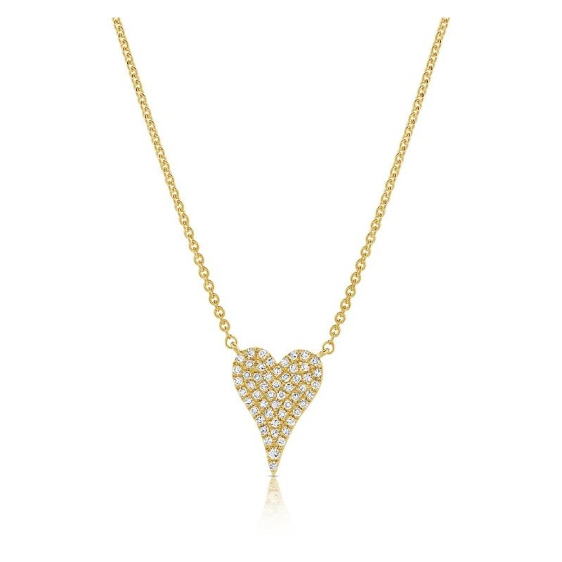 Sabrina Pave Diamond Heart Necklace