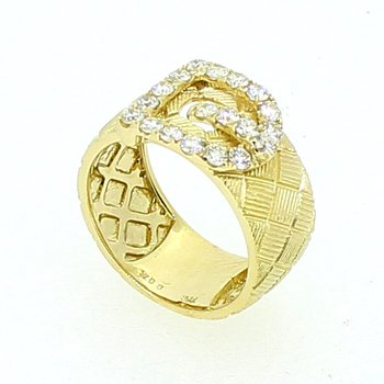 Yellow Gold Buckle Ring