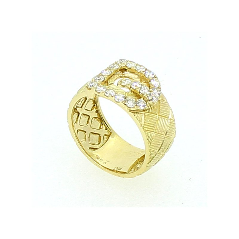 Decor Yellow Gold Buckle Ring