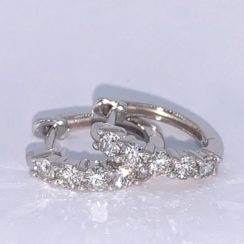 Decor .50ctw Diamond Huggie Hoops