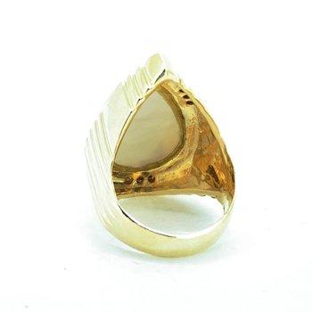 Mabe Pearl & Diamond Ring