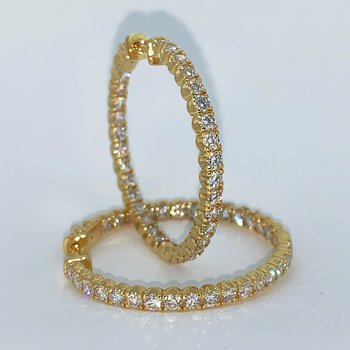 4.01ctw Diamond Hoop Earrings