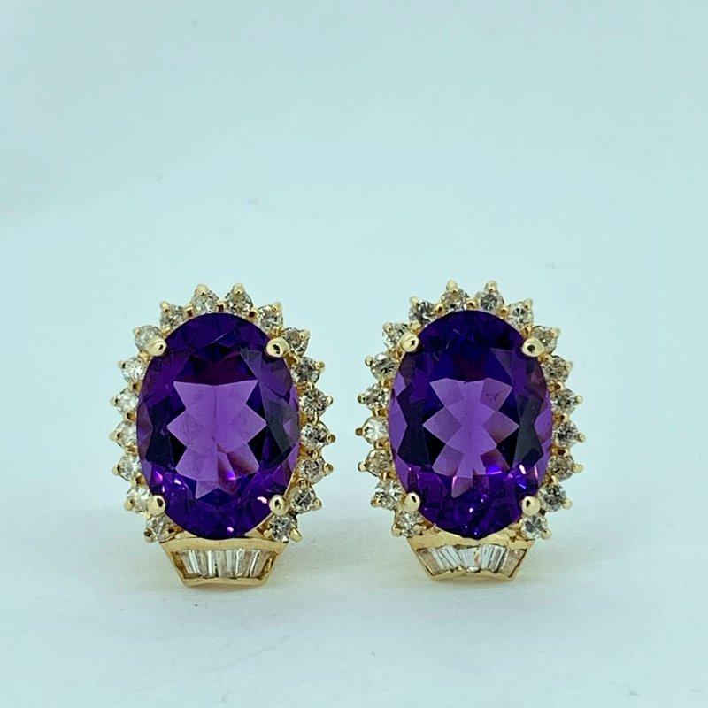 Decor Amethyst & Diamond Earrings