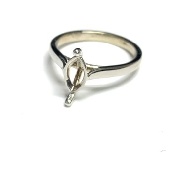 Marquise Solitaire Ring Mounting