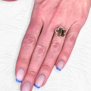 Rose Gold Diamond Flower Ring