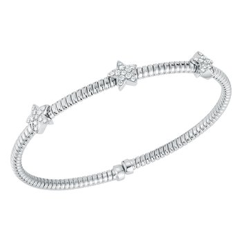 3 Star Diamond Cuff