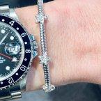 DA Gold Stars Pave Diamond Cuff Bracelet