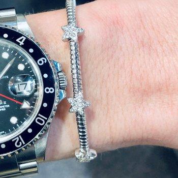 Stars Pave Diamond Cuff Bracelet