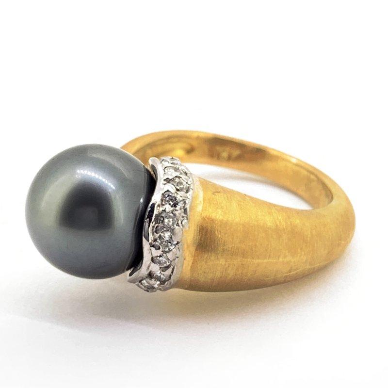 Tahitian Pearl & Diamond Ring
