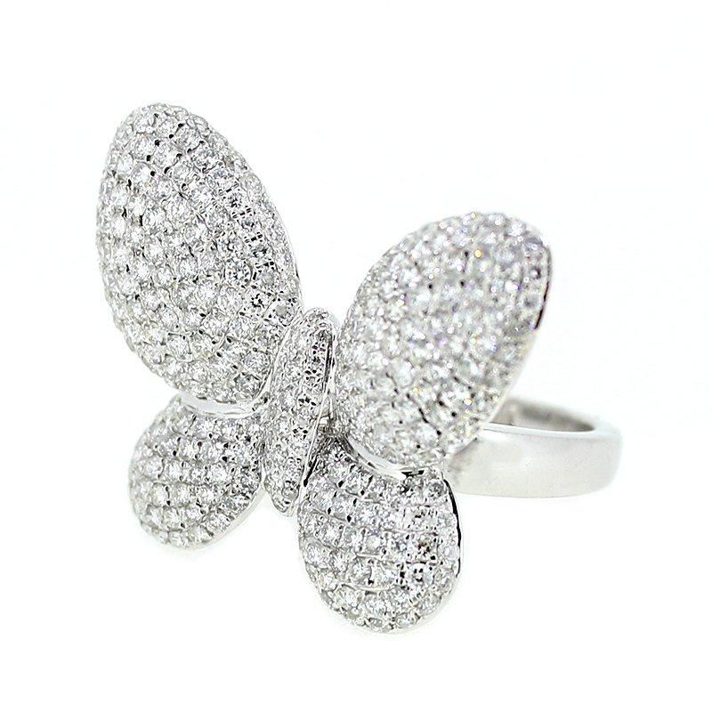 Decor Pave Diamond Butterfly Ring
