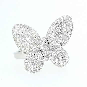 Pave Diamond Butterfly Ring