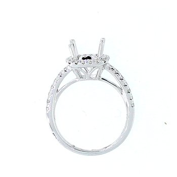 Cushion Halo Diamond Ring Mounting