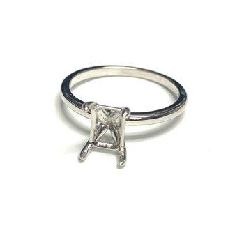 Rectangular Solitaire Ring Mounting