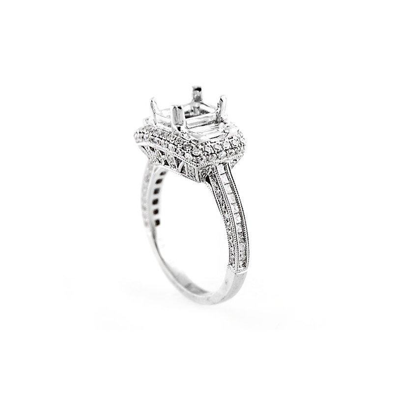 Decor Three Stone Diamond Ring Mounting