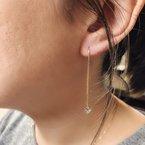 Decor Diamond Heart Threader Earrings