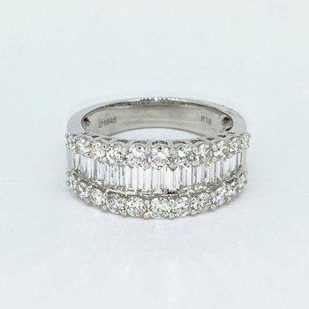 1.64ctw Baguette & Round Diamond Band