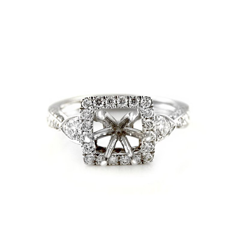 Decor Square Halo Diamond Ring Mounting