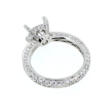 Baguette & Pave Diamond Ring Mounting