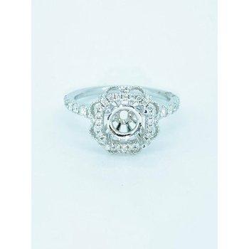 Floral Halo Diamond Mounting