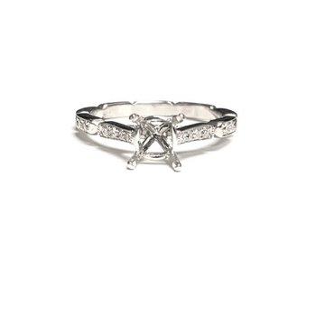 Diamond Milgrain Ring Mounting