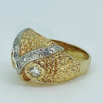 Diamond Owl Ring